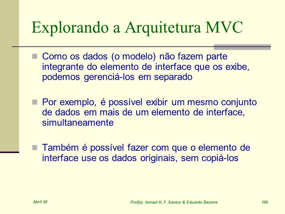 Explorando a Arquitetura MVC