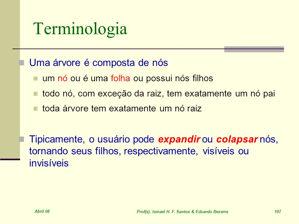 Prof(s). Ismael H. F. Santos & Eduardo Bezerra 107