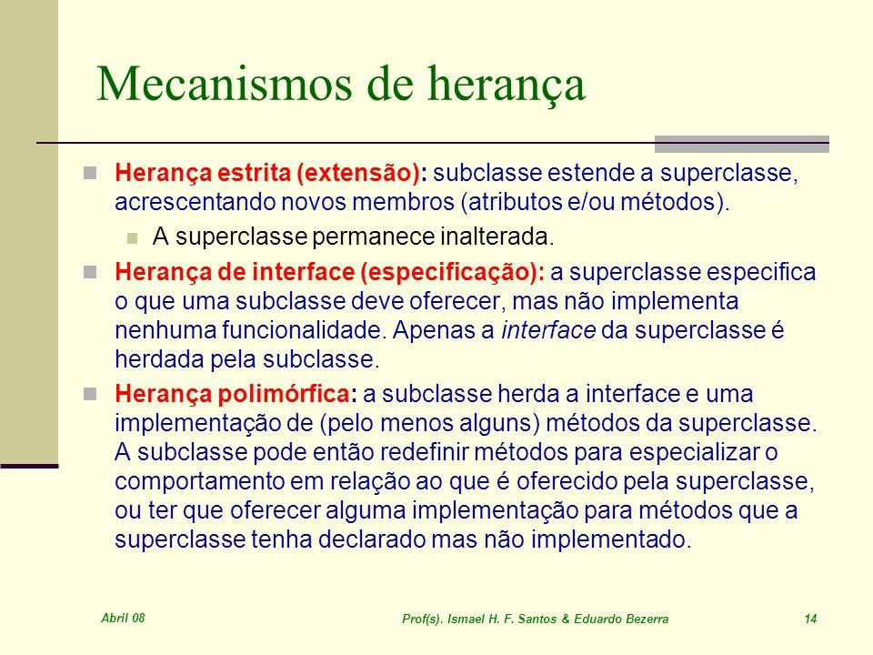 Prof(s). Ismael H. F. Santos & Eduardo Bezerra 14