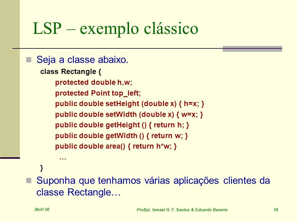 Prof(s). Ismael H. F. Santos & Eduardo Bezerra 19