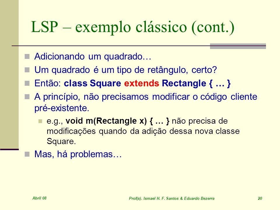 LSP – exemplo clássico (cont.)