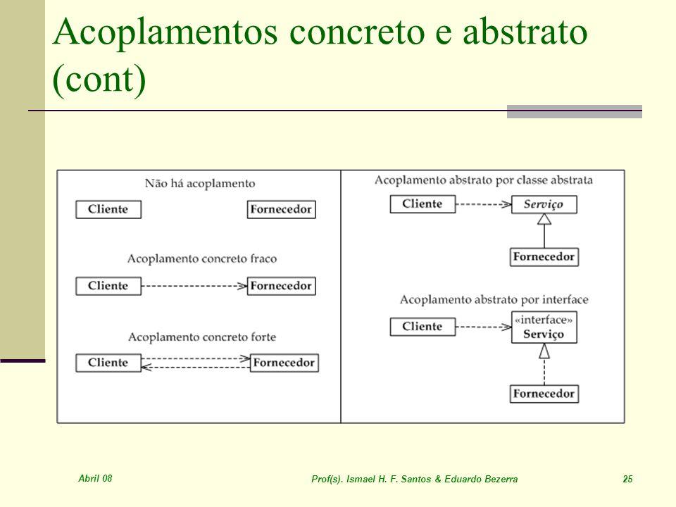 Acoplamentos concreto e abstrato (cont)