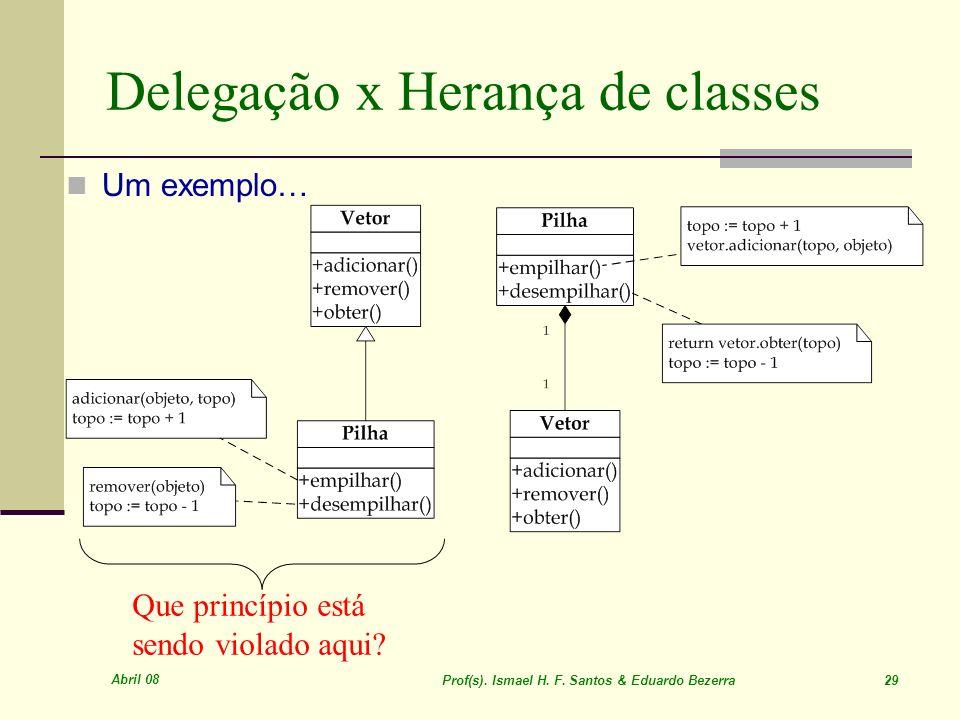 Delegação x Herança de classes