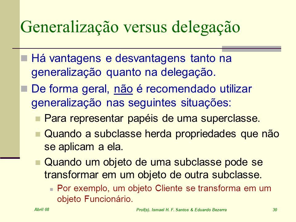 Generalização versus delegação
