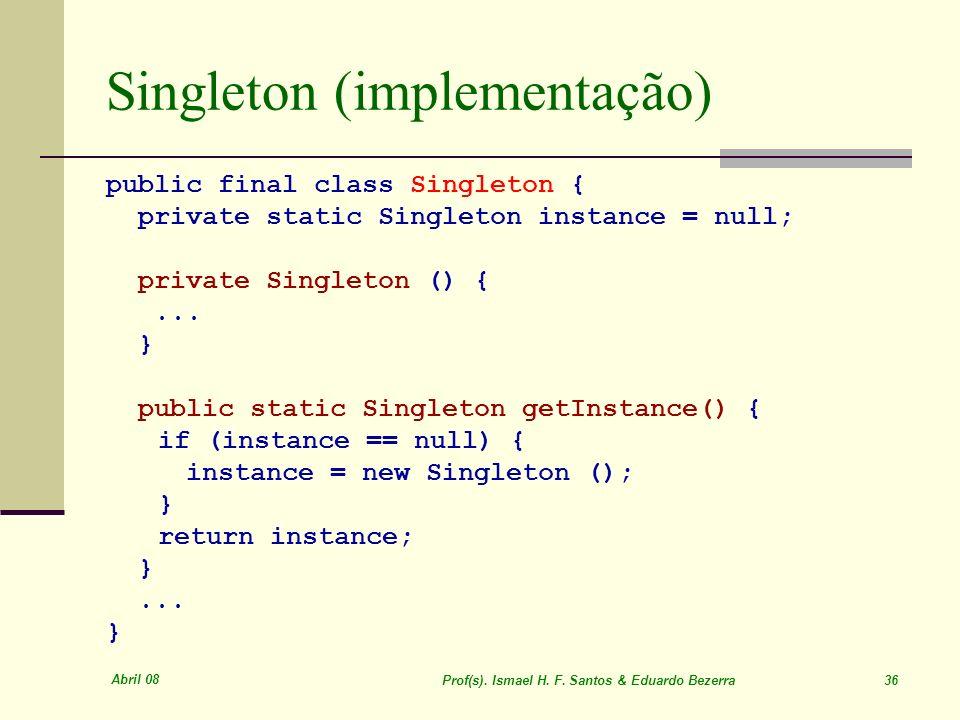 Singleton (implementação)