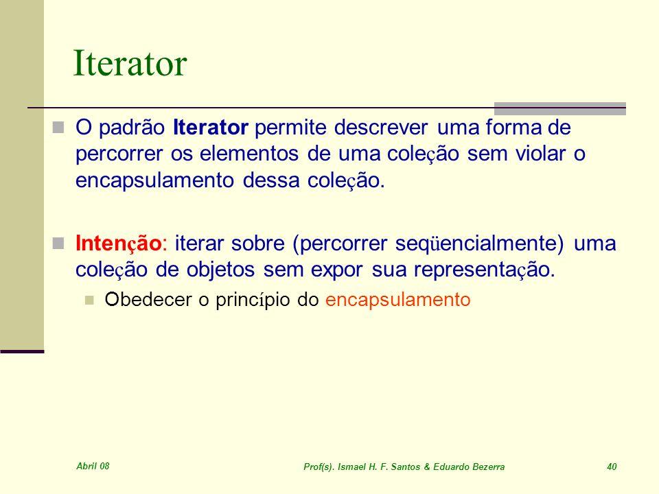 Prof(s). Ismael H. F. Santos & Eduardo Bezerra 40