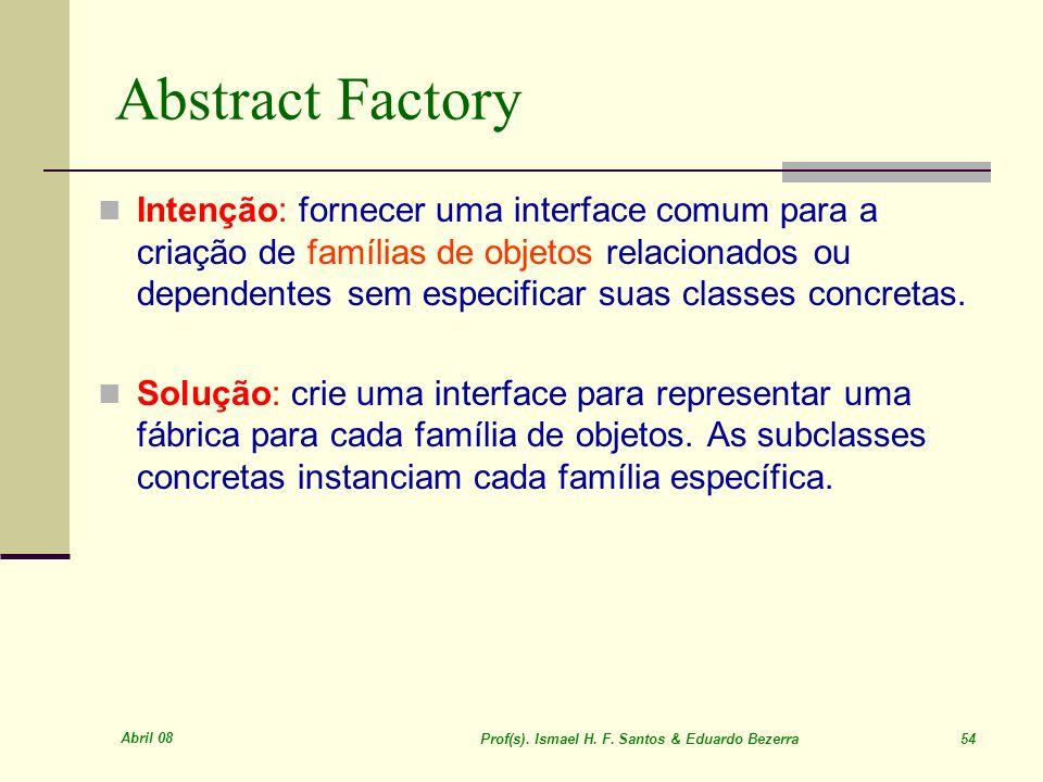 Prof(s). Ismael H. F. Santos & Eduardo Bezerra 54