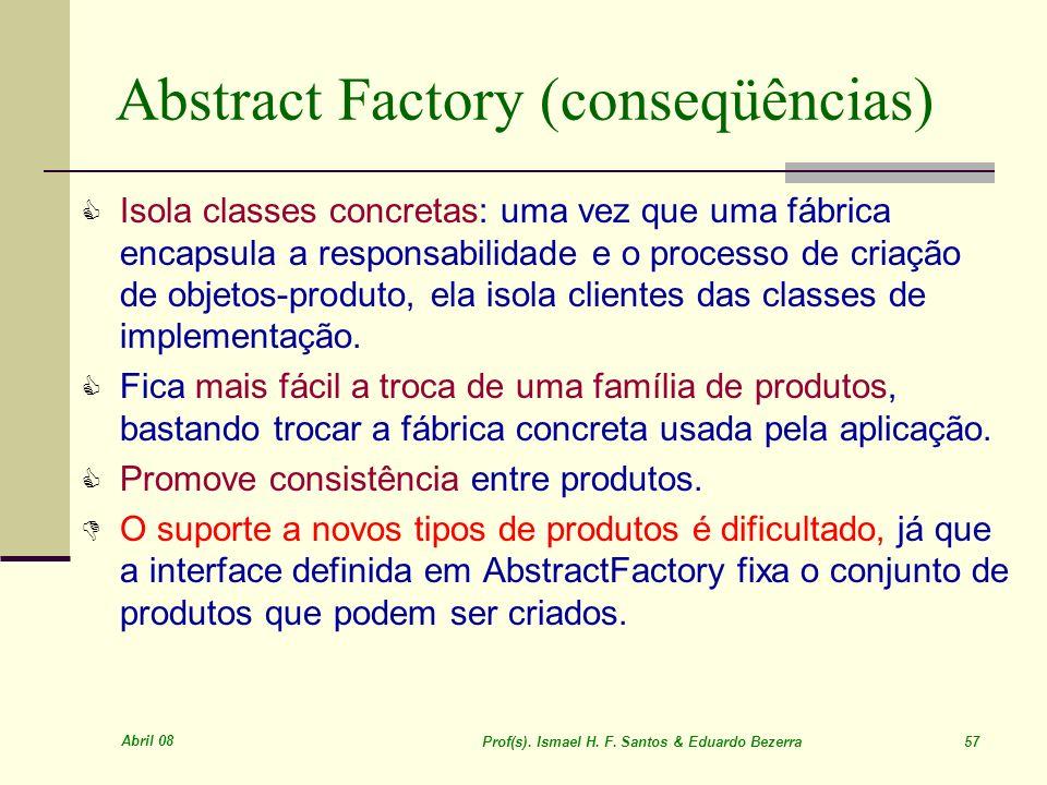Abstract Factory (conseqüências)