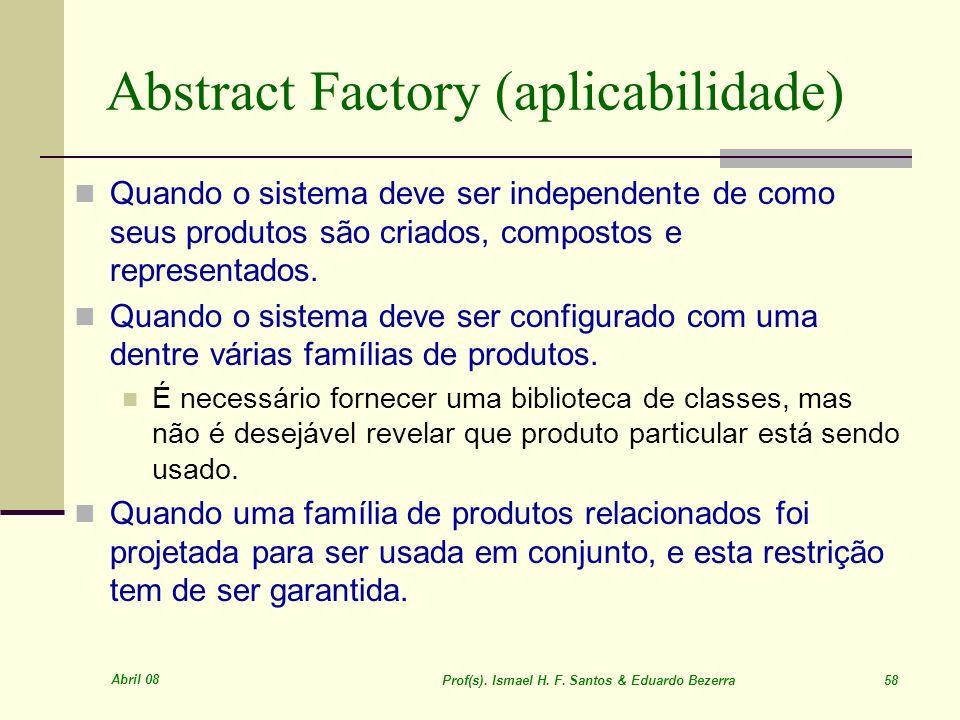 Abstract Factory (aplicabilidade)