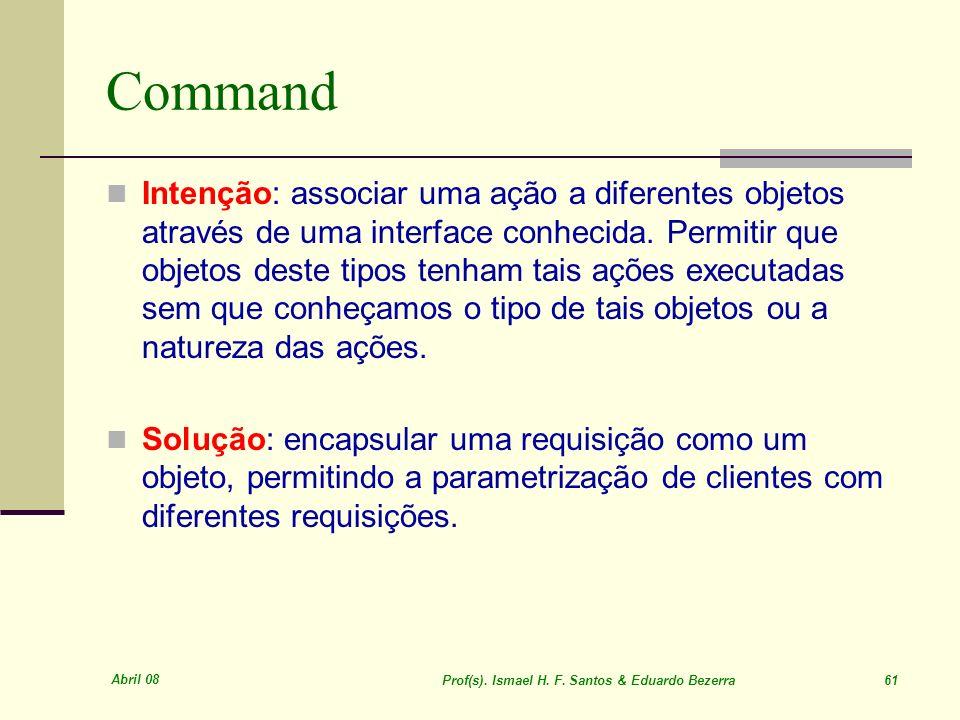 Prof(s). Ismael H. F. Santos & Eduardo Bezerra 61