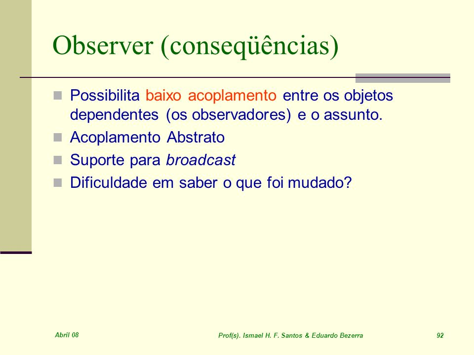 Observer (conseqüências)