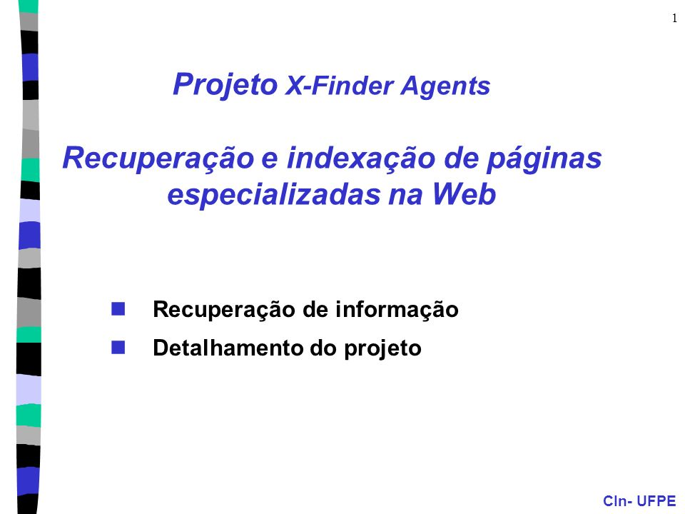 Recuperação de informação Detalhamento do projeto