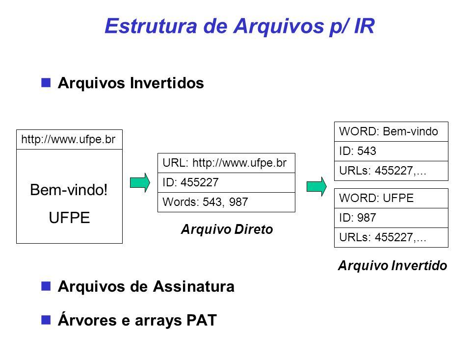 Estrutura de Arquivos p/ IR