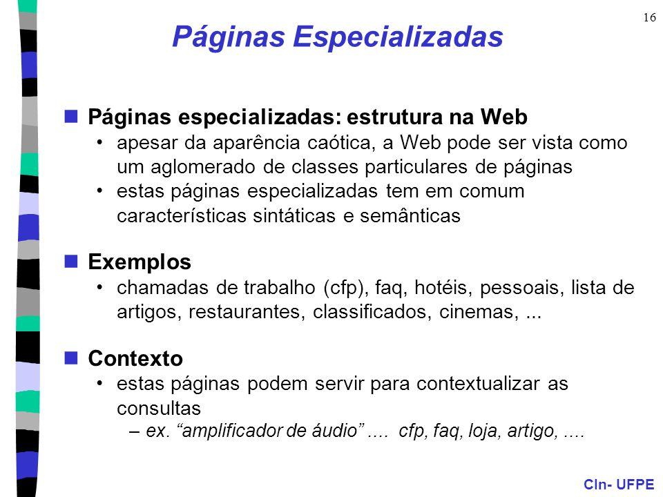 Páginas Especializadas