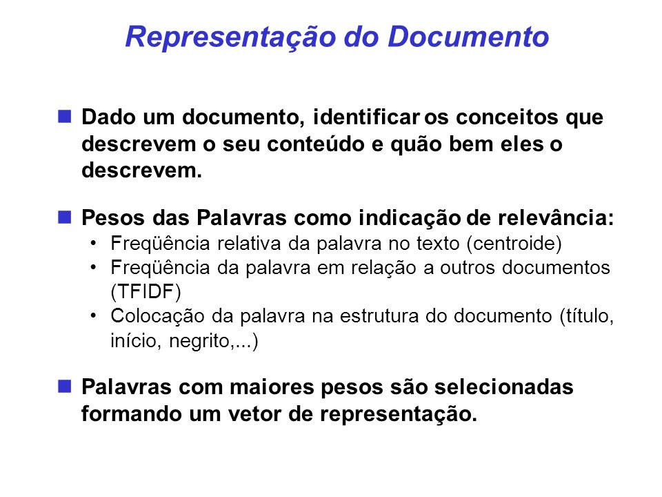 Representação do Documento