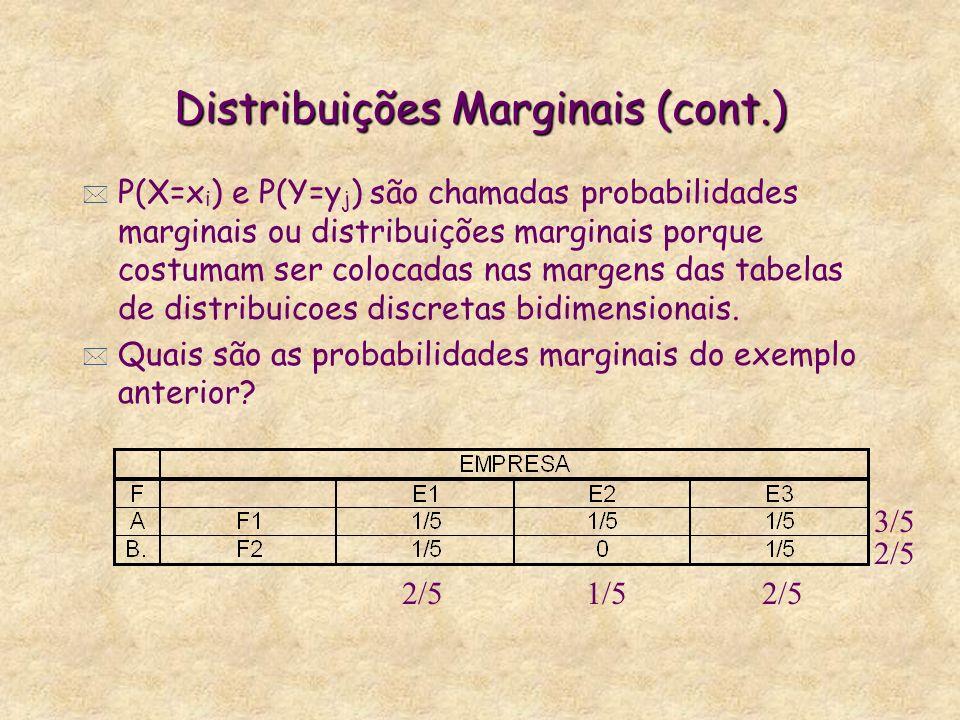 Distribuições Marginais (cont.)