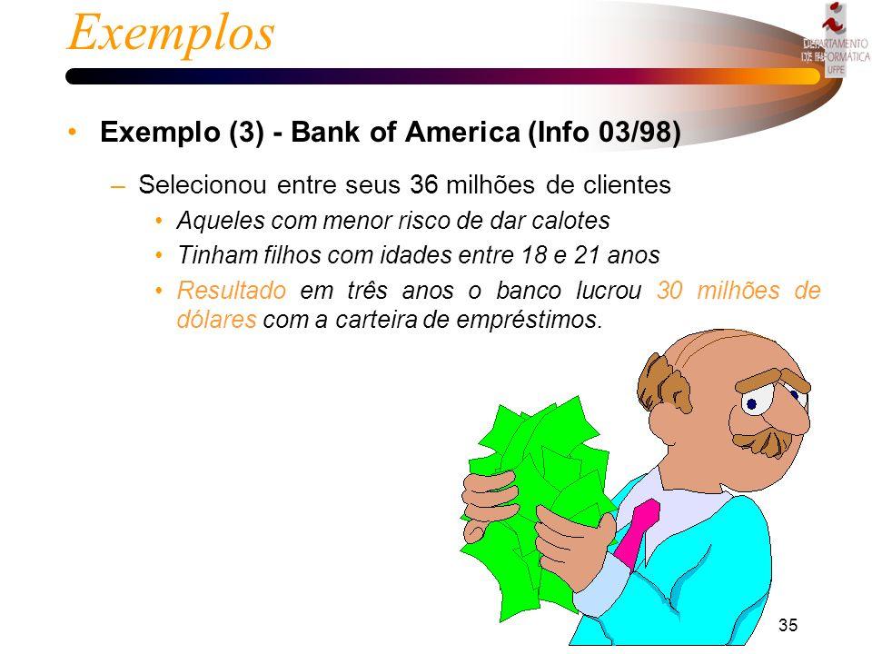 Exemplos Exemplo (3) - Bank of America (Info 03/98)