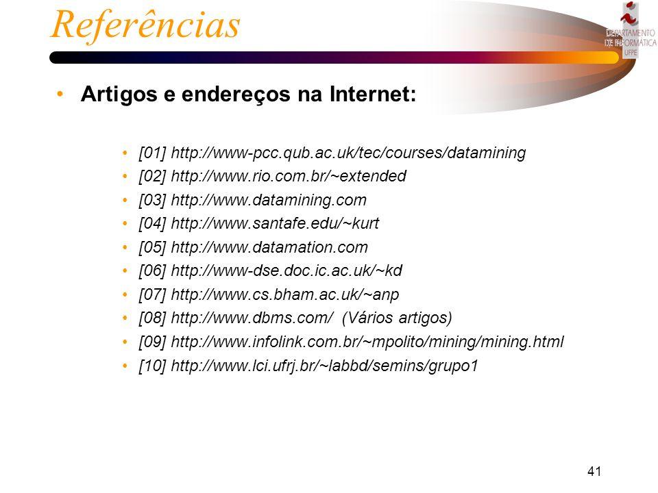 Referências Artigos e endereços na Internet: