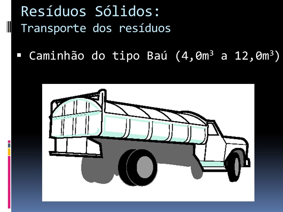 Resíduos Sólidos: Transporte dos resíduos