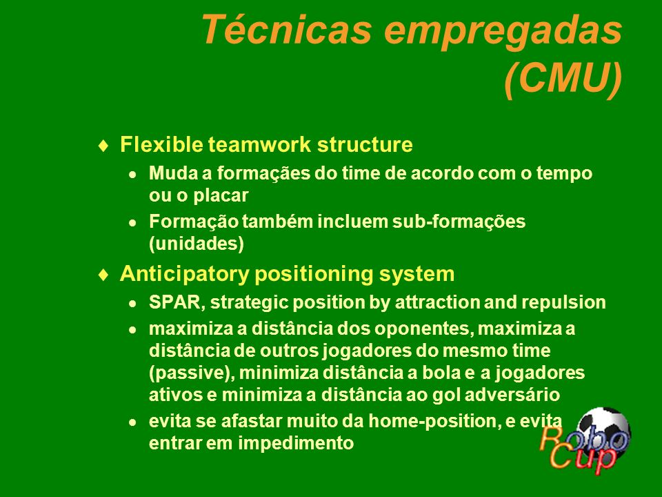Técnicas empregadas (CMU)