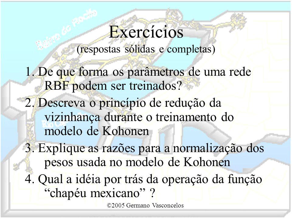 Exercícios (respostas sólidas e completas)