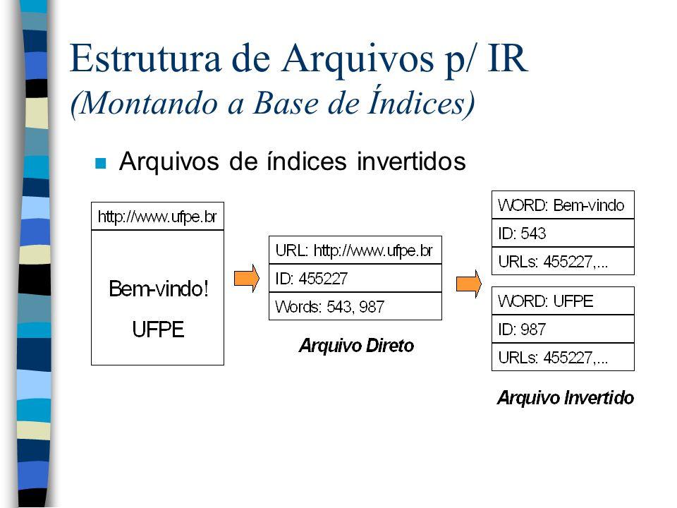 Estrutura de Arquivos p/ IR (Montando a Base de Índices)