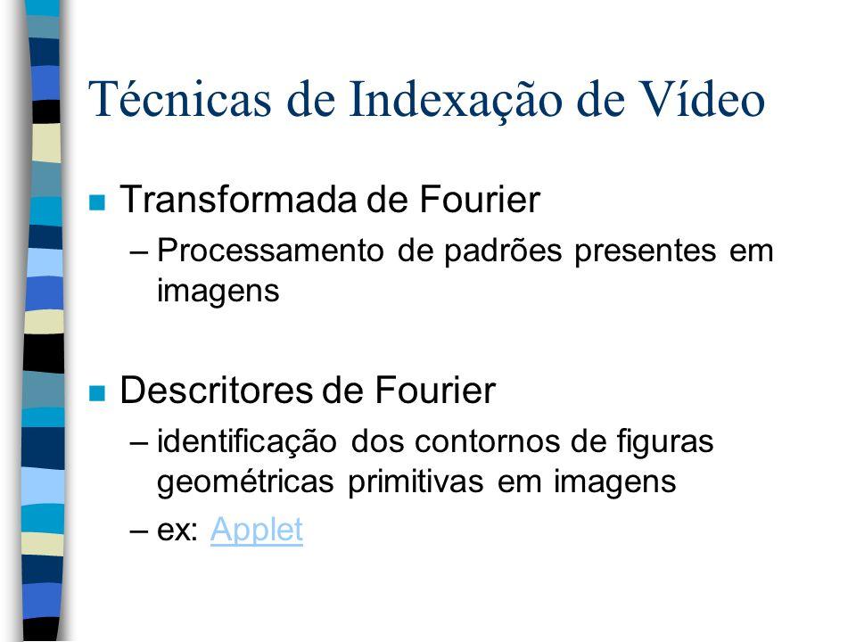 Técnicas de Indexação de Vídeo