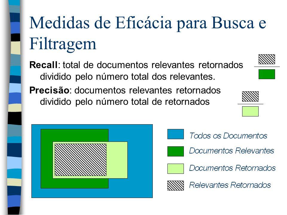 Medidas de Eficácia para Busca e Filtragem