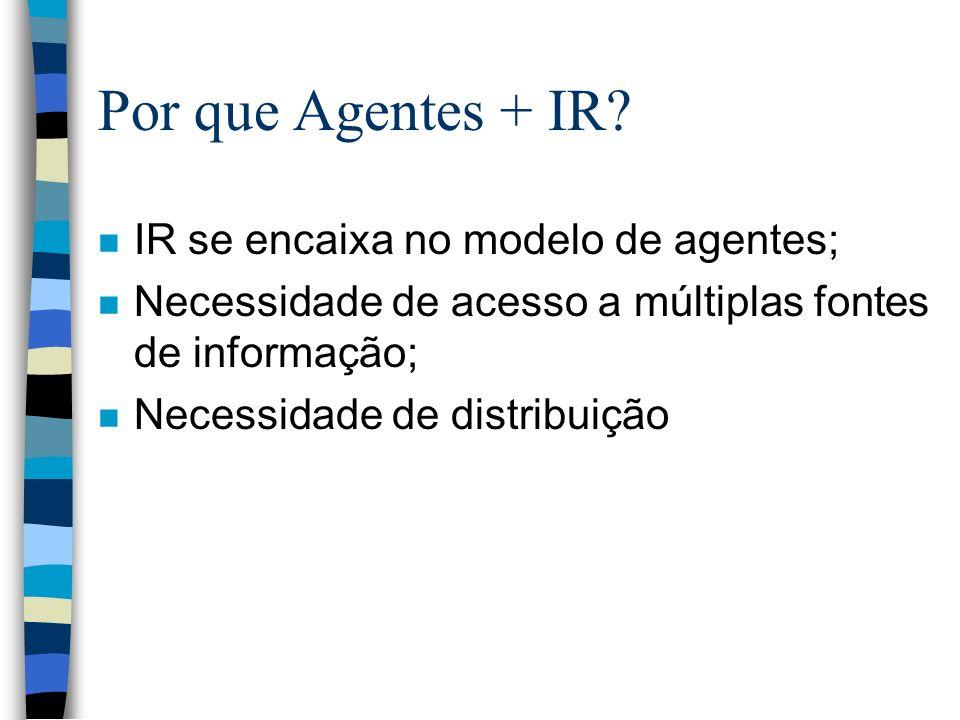 Por que Agentes + IR IR se encaixa no modelo de agentes;