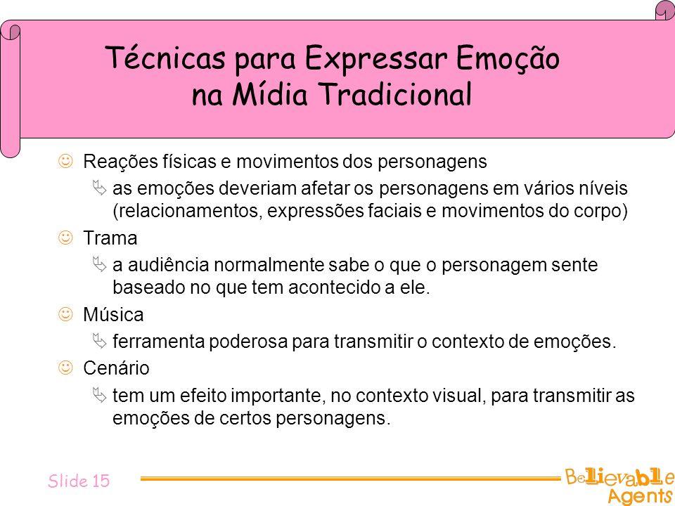 Técnicas para Expressar Emoção na Mídia Tradicional