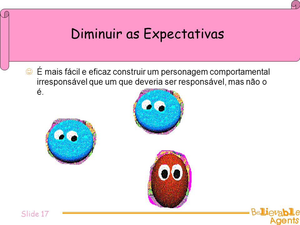 Diminuir as Expectativas