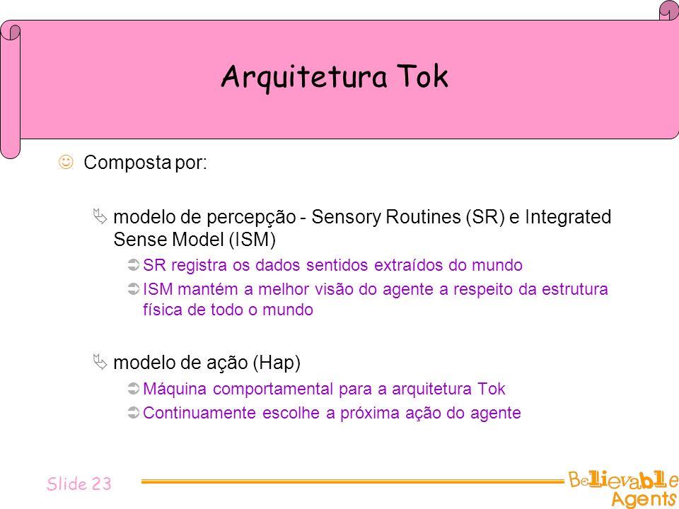 Arquitetura Tok Composta por: