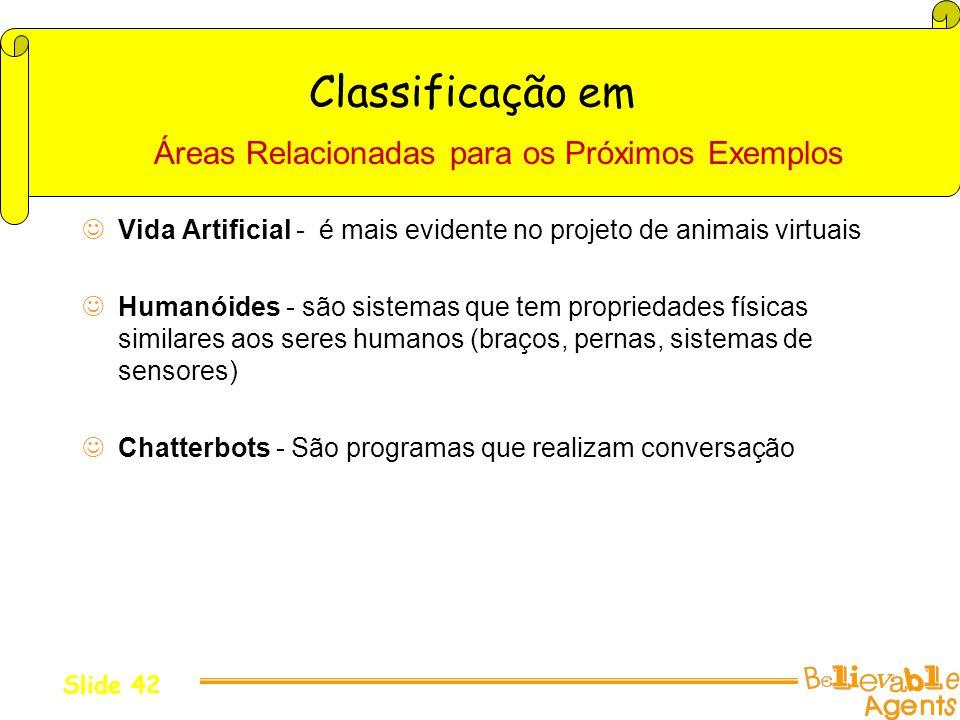 Classificação em Áreas Relacionadas para os Próximos Exemplos