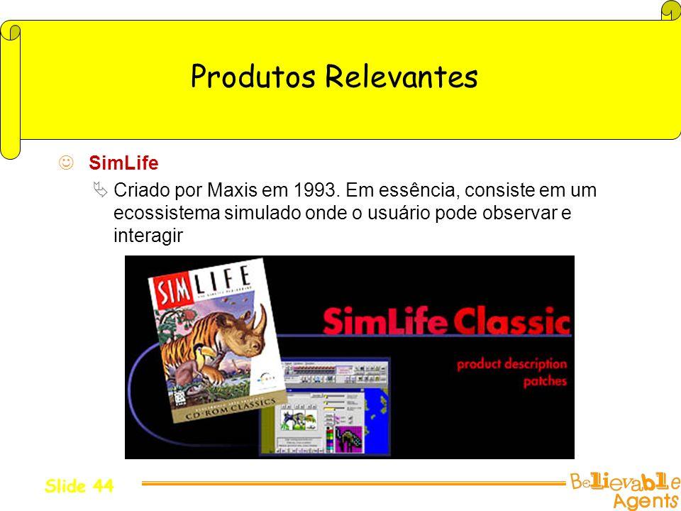 Produtos Relevantes SimLife