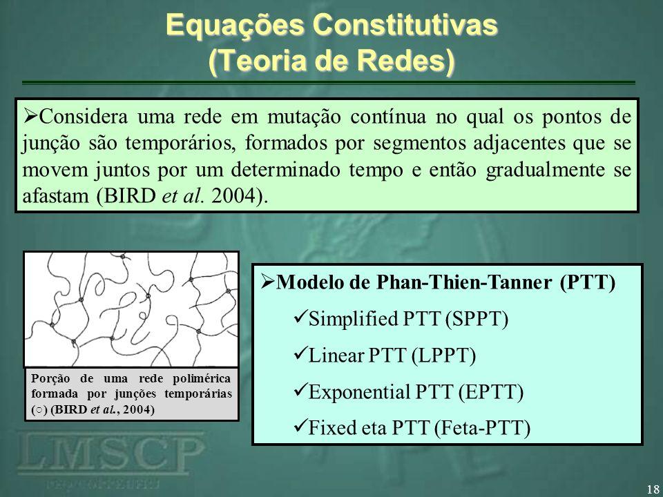Equações Constitutivas (Teoria de Redes)