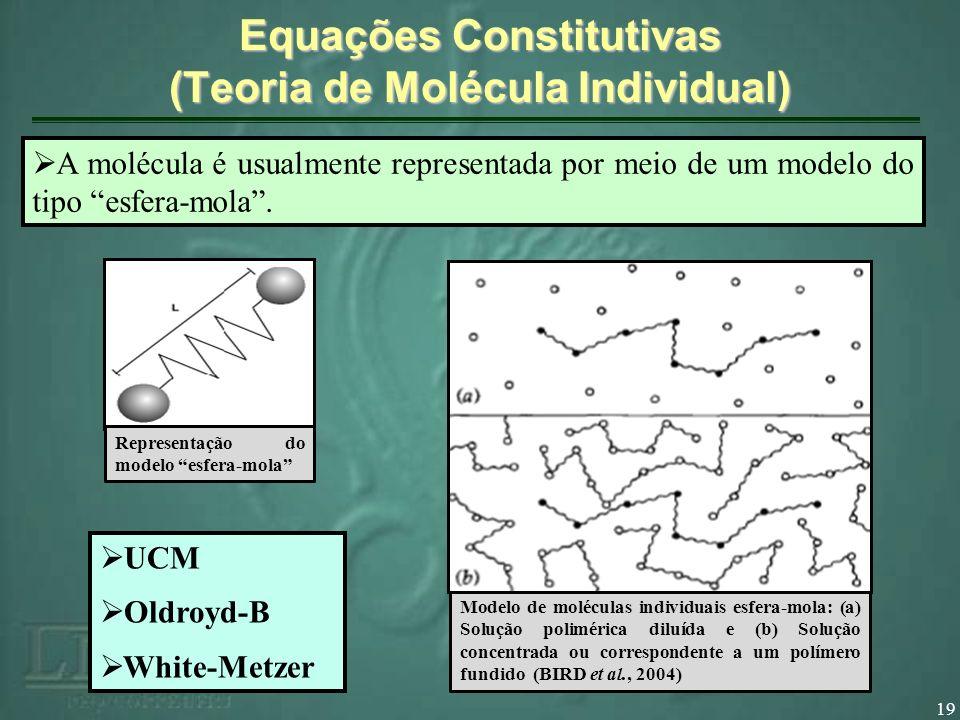 Equações Constitutivas (Teoria de Molécula Individual)