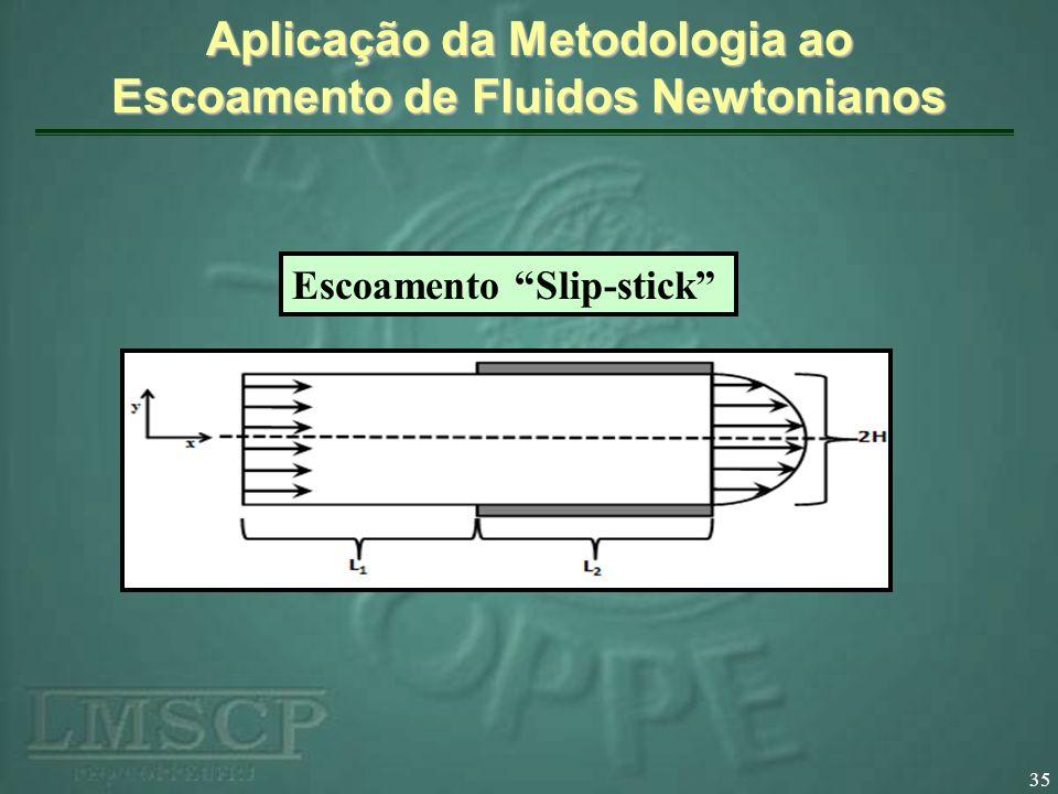 Aplicação da Metodologia ao Escoamento de Fluidos Newtonianos