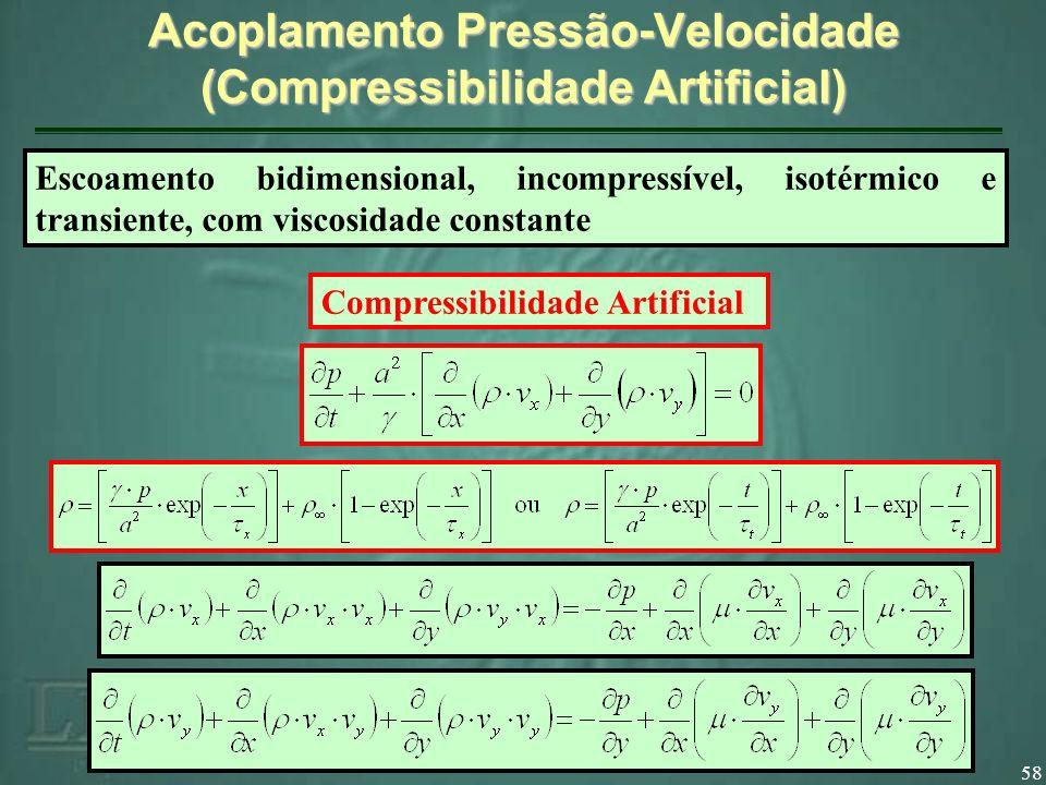 Acoplamento Pressão-Velocidade (Compressibilidade Artificial)