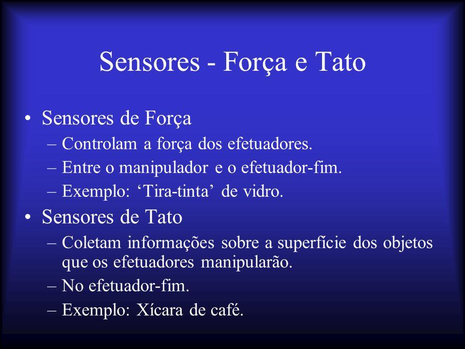 Sensores - Força e Tato Sensores de Força Sensores de Tato