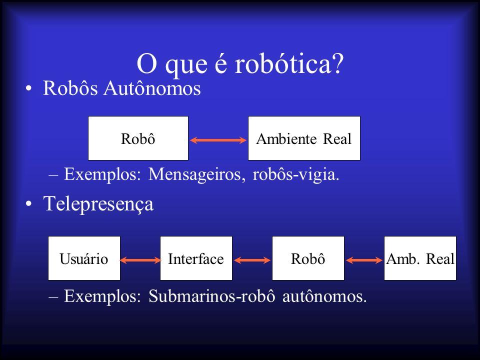 O que é robótica Robôs Autônomos Telepresença