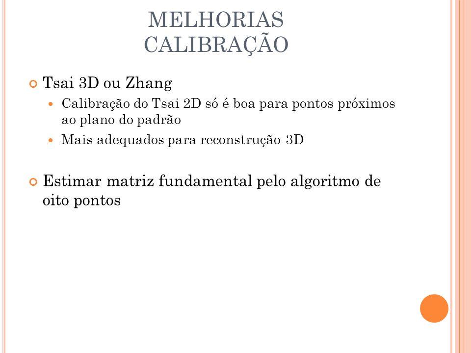 MELHORIAS CALIBRAÇÃO Tsai 3D ou Zhang
