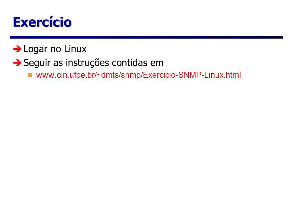 Exercício Logar no Linux Seguir as instruções contidas em