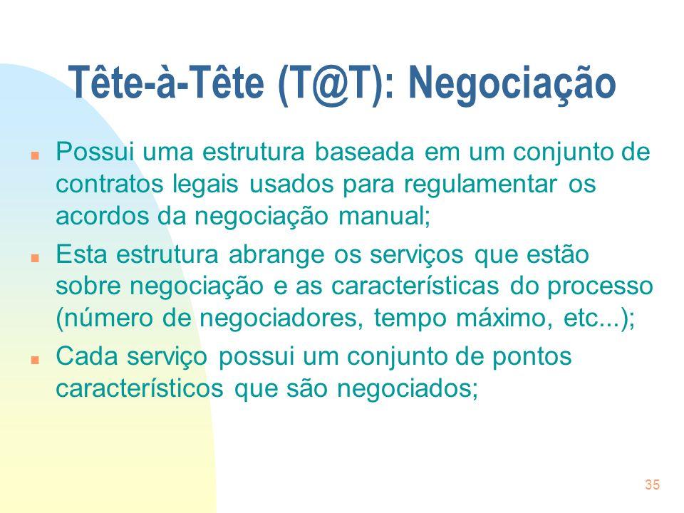 Tête-à-Tête (T@T): Negociação