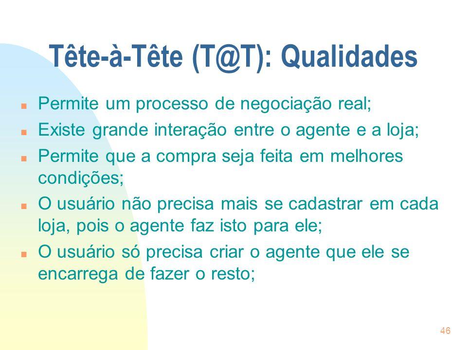Tête-à-Tête (T@T): Qualidades
