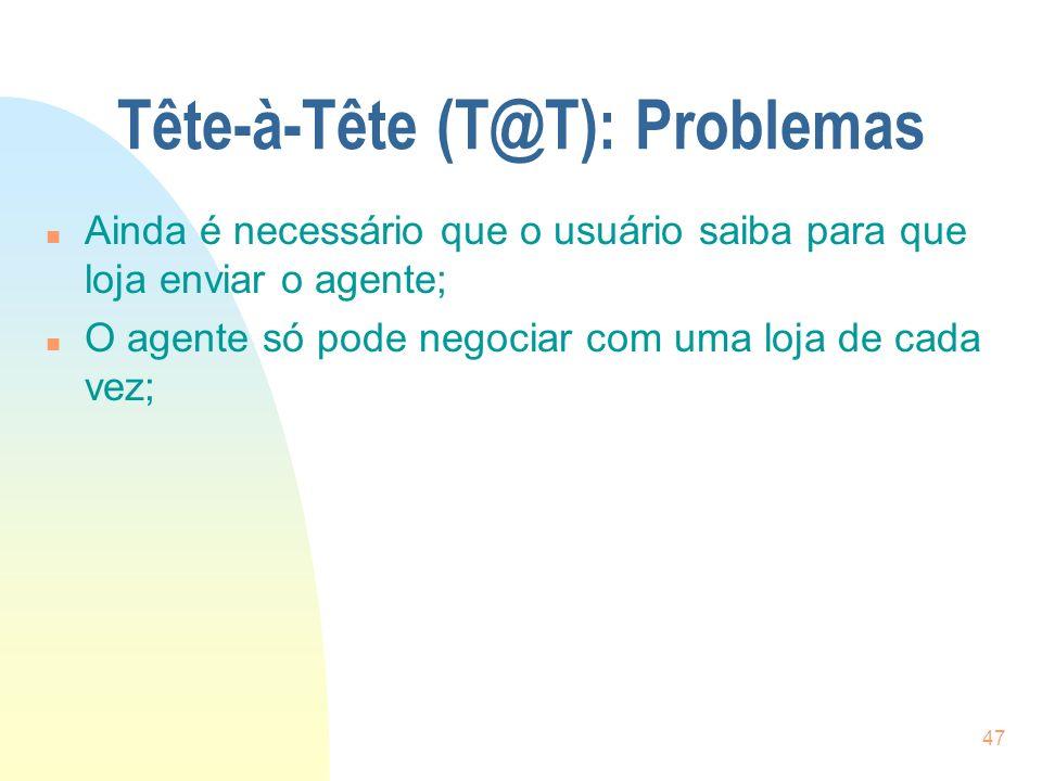 Tête-à-Tête (T@T): Problemas