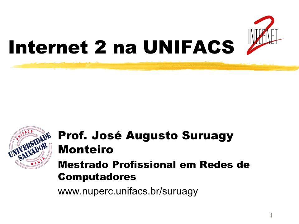 Internet 2 na UNIFACS Prof. José Augusto Suruagy Monteiro