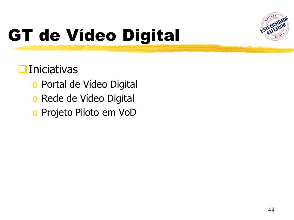 GT de Vídeo Digital Iniciativas Portal de Vídeo Digital