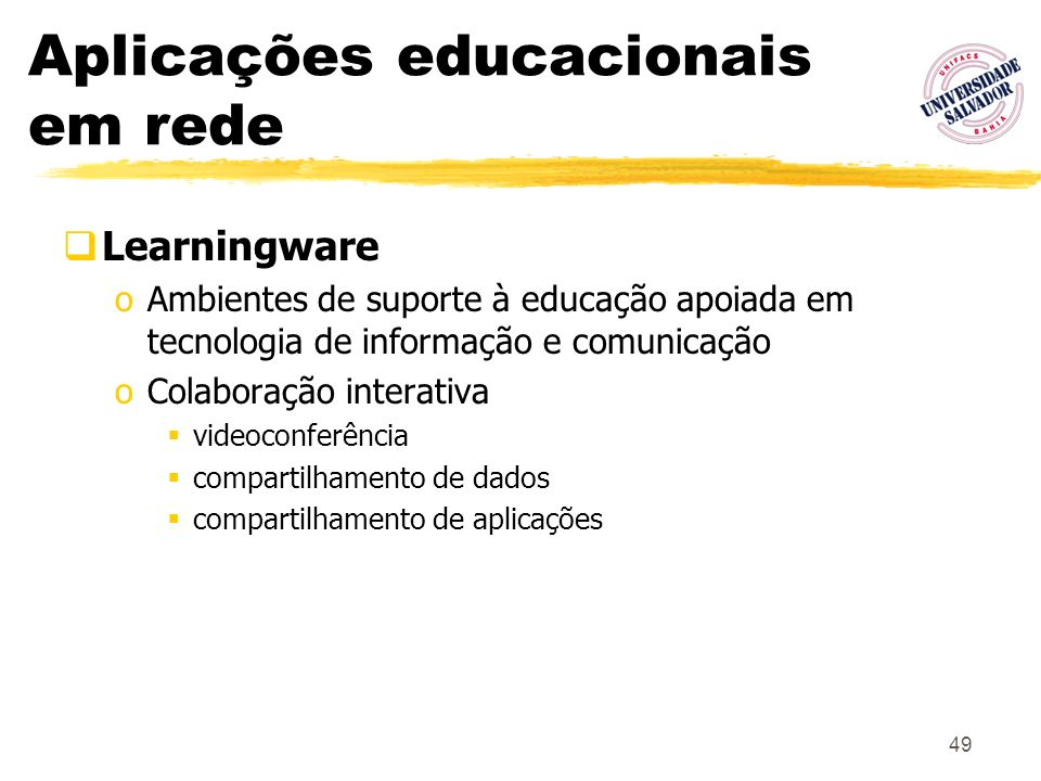Aplicações educacionais em rede