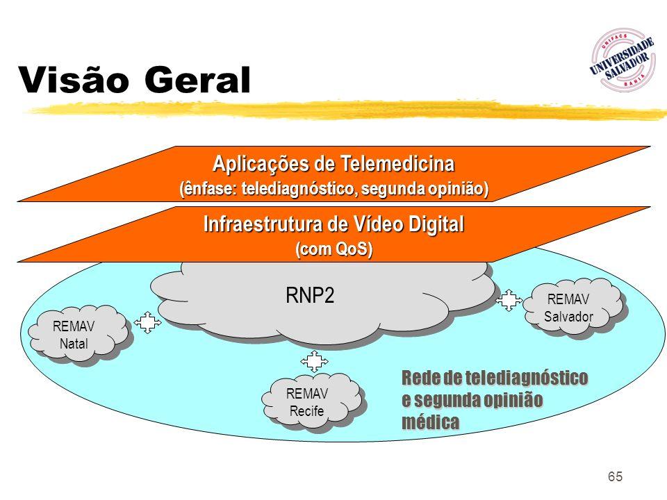 Visão Geral Aplicações de Telemedicina Infraestrutura de Vídeo Digital