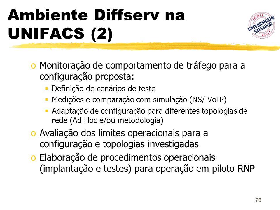 Ambiente Diffserv na UNIFACS (2)